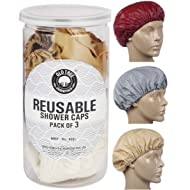Old Tree Reusable Bath Cap (Cream) -Set of 3