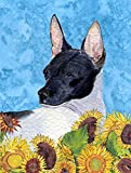 Caroline's Treasures SS4113CHF Rat Terrier Flag Canvas, Large, Multicolor