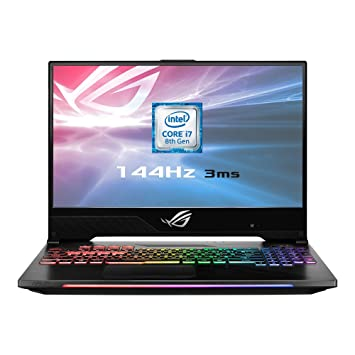 b4b53f0b47ff ASUS ROG Hero II GL504GM-ES192T 15.6 Inch 144 Hz Full HD Slim Bezel Gaming  Laptop - (Black) (Intel Core i7-8750H, 16 GB RAM, 256 GB PCI-e SSD + 1 TB  ...