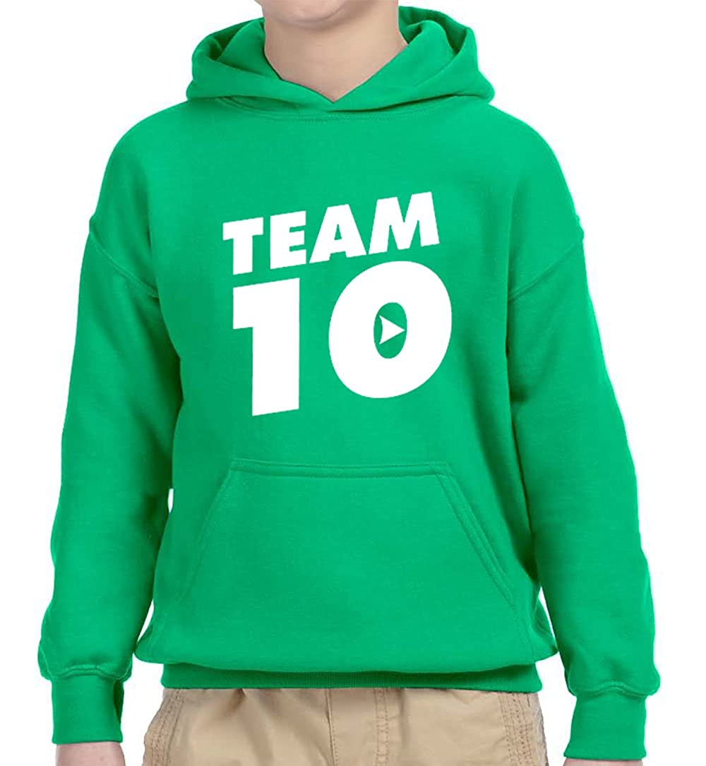 New Way 742 - Youth Hoodie Team 10 Ten #Team10 Unisex Pullover Sweatshirt