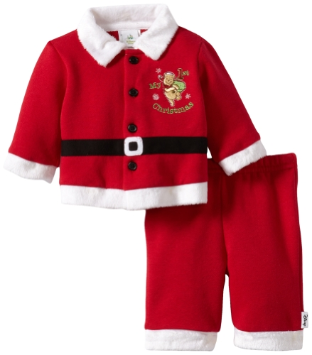 Winnie the Pooh First Christmas Two Piece Santa Outfit