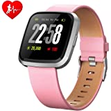 H4 Fitness Health 2in1 Smart Watch for Men Women Smartwatch with All-Day Heart Rate/Blood Pressure/Sleep Monitor IP67…