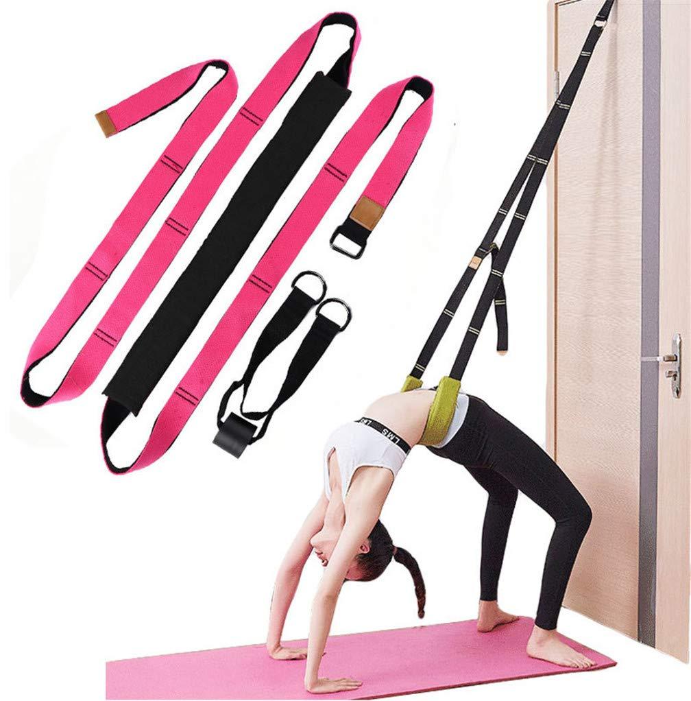 Xemz Back Bend Assist Trainer - Improve Back and Waist Flexibility, Door Flexibility Stretching Strap, Home Equipment for Ballet, Dance, Yoga, Gymnastics, Cheerleading, Splits (Rose) by Xemz