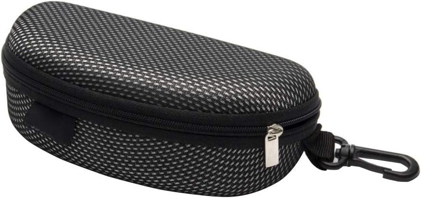 Occhiali caso con moschettone Ultra Light Zipper portatile Occhiali da sole morbido Custodia protettiva in caso di Shell duro per occhiali e occhiali da sole 1PC