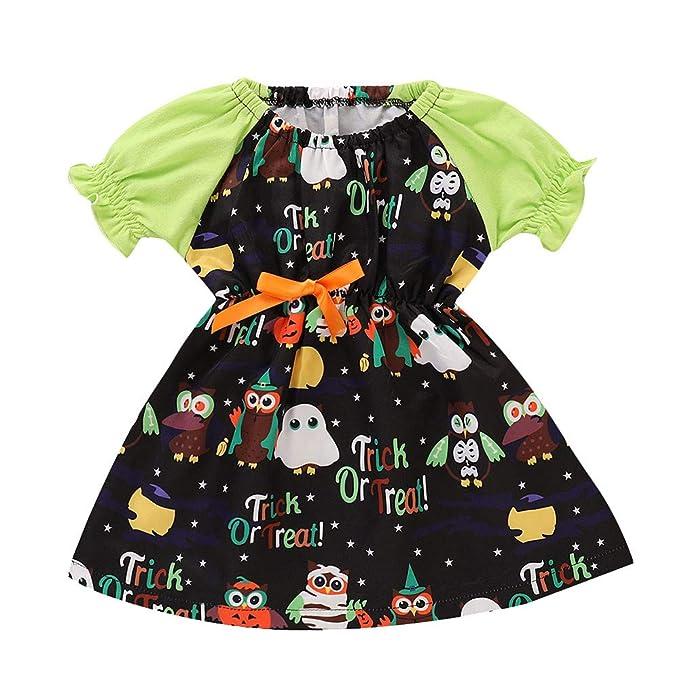 Vestido de Fiesta Halloween Regalo para Bebé Niñas Mangas Cortas Otoño 2018 Moda PAOLIAN Ropa para
