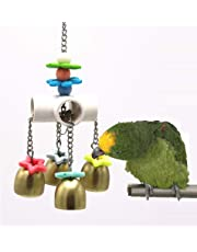 Bells Toy with Sweet Sound for Bird Parrot Budgie Parakeet Cockatiel Conure Lovebird Finch Canary Macaw African Grey Cockatoo Amazon Cage