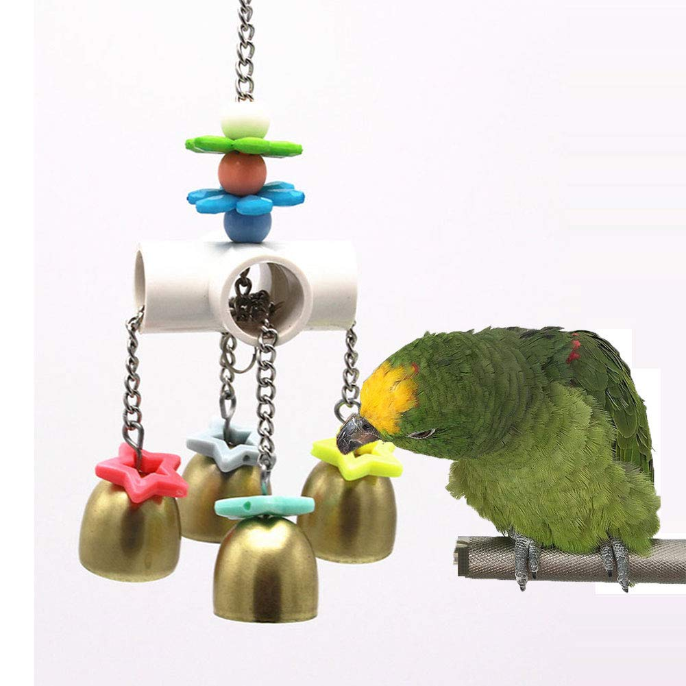 Keersi Bells Toy with Sweet Sound for Bird Parrot Budgie Parakeet Cockatiel Conure Lovebird Finch Canary Macaw African Grey Cockatoo  Cage