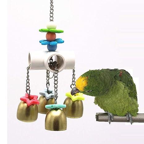 Keersi Campanas de Juguete con Sonido Dulce para pájaros, Loros ...
