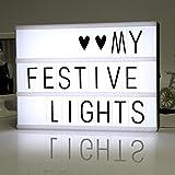LiliChan Light Up Your Life Cinématique A4 LED Lightbox avec 90 lettres noires, des chiffres, des symboles