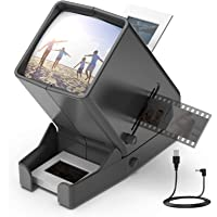 LED Lighted Illuminated Viewing for 35mm Slide and Positive Film Negatives,3X Magnification,USB Powered,Slide and Film…