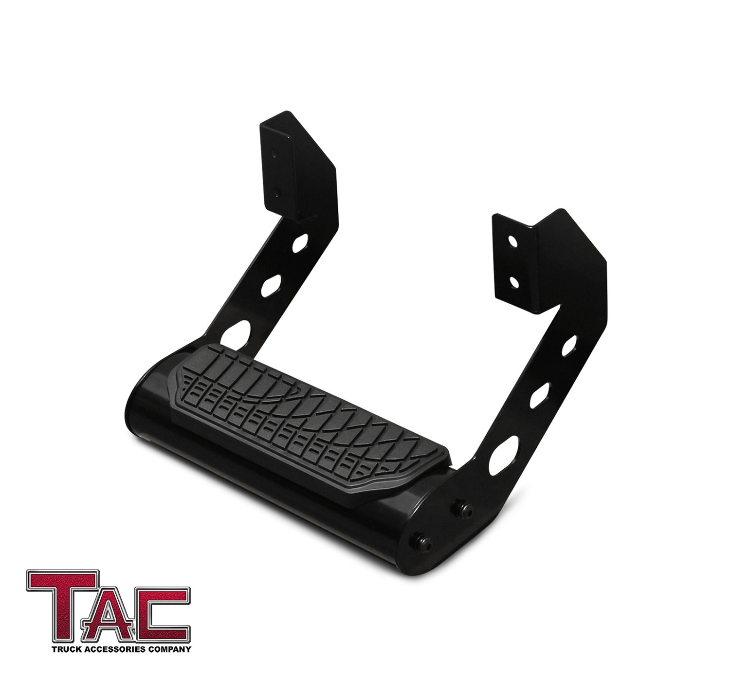 "TAC Drop Step 4"" Wide Black Side Step Nerf Bar Running Board (1 Piece)"