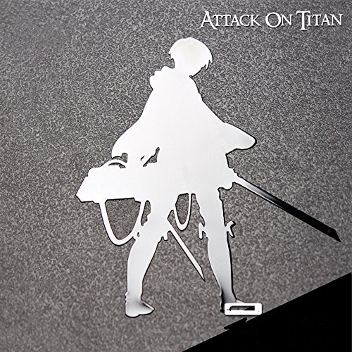 Cosplay Attack on Titan Shingeki no Kyojin Levi Recon Corps Metal Stickers Phone Computer Decals (B)