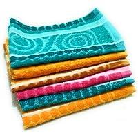 Cotton Colors 300 GSM 6 Piece Cotton Hand Towel Set - Multicolor_D20