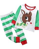 Baywell Boys Girls Christmas Pajamas Toddler Sleepwear Long Sleeve Top+Pants Outfits Set