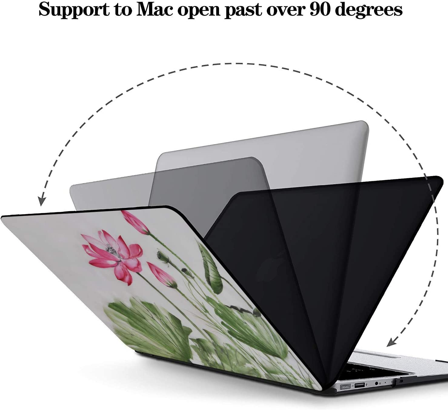 MacBook Accessories Summer Hangzhou Western Lake Lotus Plastic Hard Shell Compatible Mac Air 11 Pro 13 15 MacBook Accessories Case Protection for MacBook 2016-2019 Version