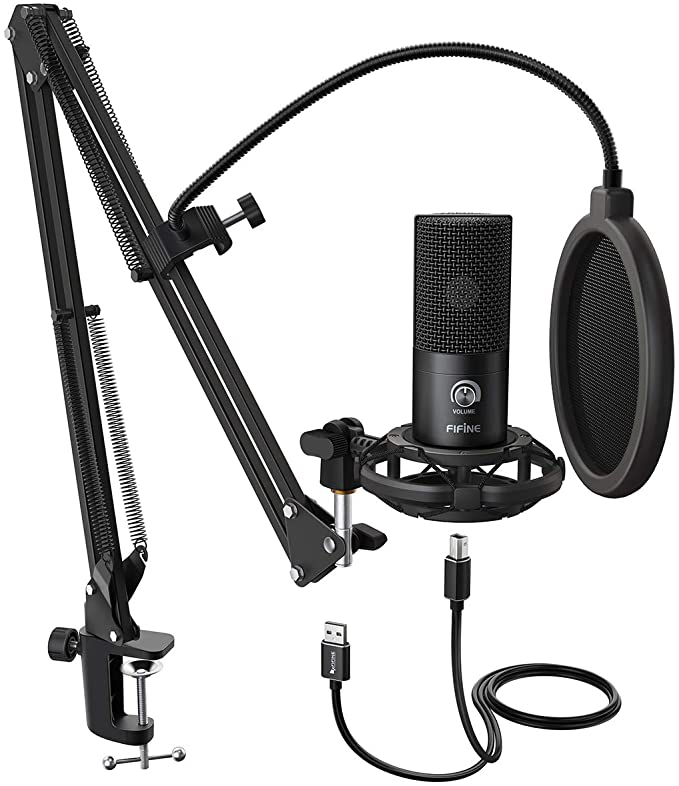 Amazon.com: FIFINE Studio Condenser USB Microphone Computer PC Microphone Kit with Adjustable Scissor Arm Stand Shock Mount for Instruments Voice Overs Recording Podcasting YouTube Karaoke Gaming Streaming-T669: Musical InstrumentsLive viewers eye icon