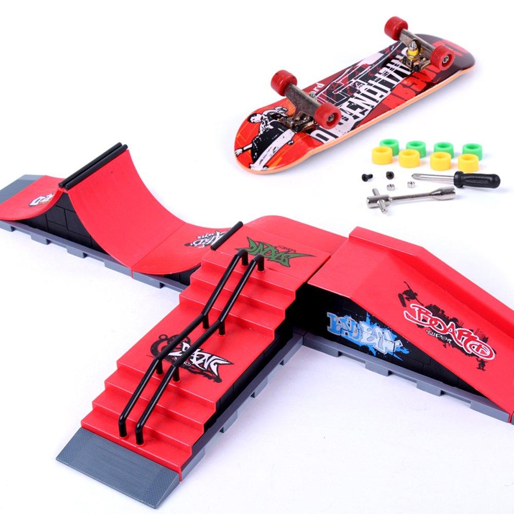 Skate Park Ramp Part Tech Deck Fingerboard Finger Board Ultimate Accessories Set