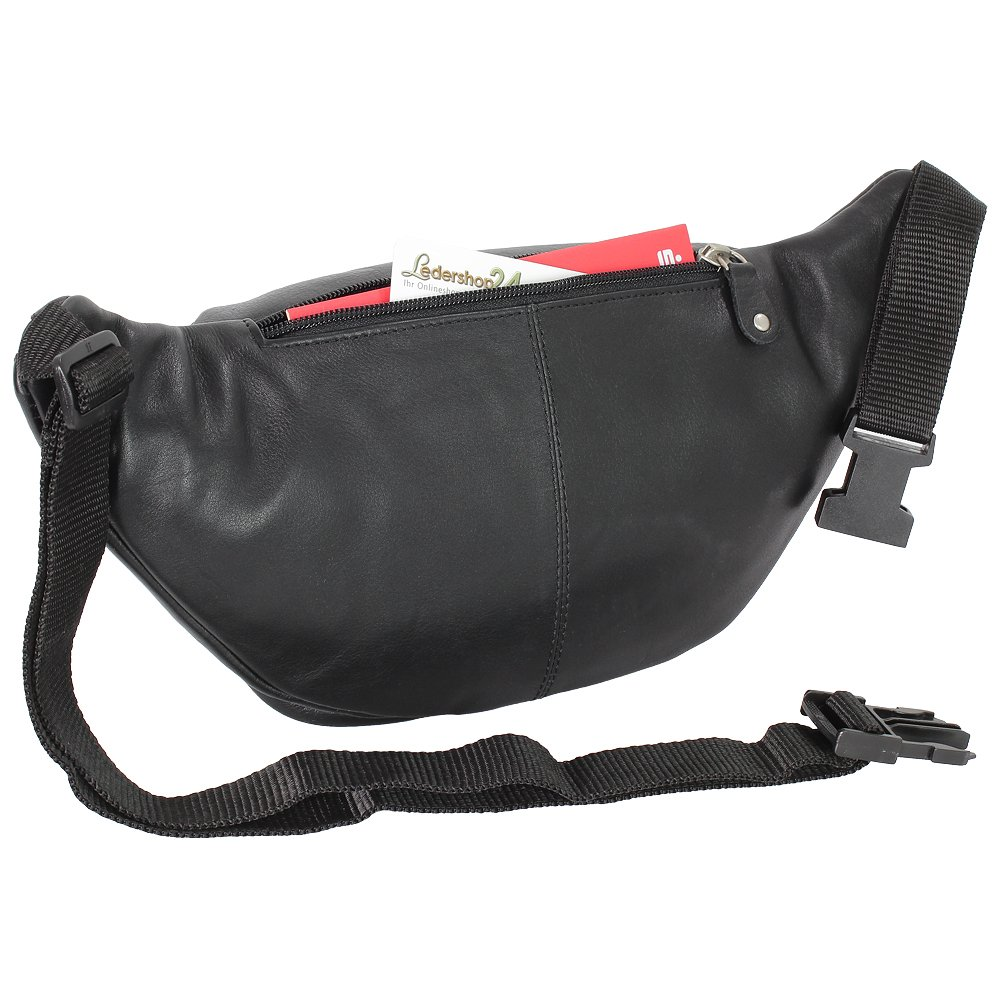 Branco G/ürteltasche Bauchtasche H/üfttasche echt Leder Farbwahl schwarz braun natur Rindsleder