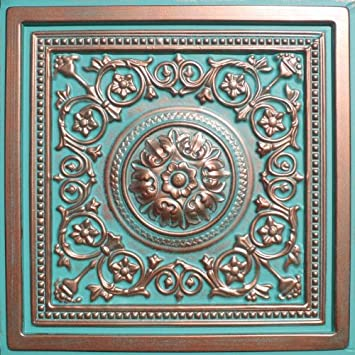 Great 12X12 Ceiling Tiles Thick 12X24 Ceramic Tile Patterns Rectangular 2 Inch Ceramic Tile 24 X 24 Ceiling Tiles Old 2X4 Ceiling Tiles Yellow3X6 Subway Tile White Amazon.com: Majesty Antique Copper Patina (24x24\