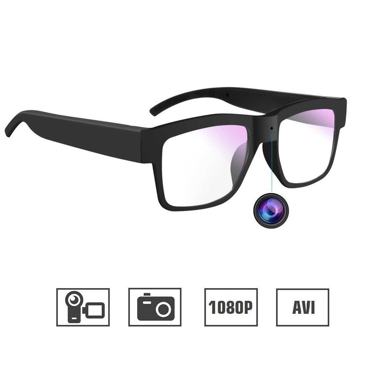 Camera Glasses 1080P Miota Mini Video Glasses Camera Wearable Camera for Office/Outdoor/Training/Teaching/Kids/Pets