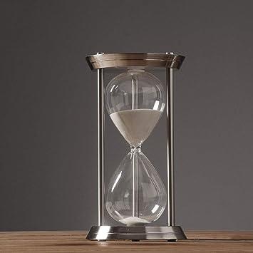 Sanduhr Deko.Amazon De Jiaju 60 Minuten Silber Sanduhr Sand Uhr Timer