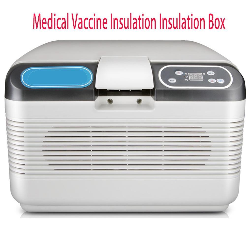 LonVe Dual-Core Auto Kühlschrank, 12v24vKühlung Temperierte Box Mini Auto Kühlung und Heizung Box Insulin Freezer Hause, Größe 42  28  30 cm, Leistung 72W