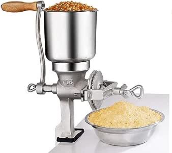 Molinillos de maíz manuales Máquina Máquina para hacer harina de mano Grano de trigo Multigrano Tuerca Herramienta de cocina de hierro fundido de: Amazon.es: Hogar