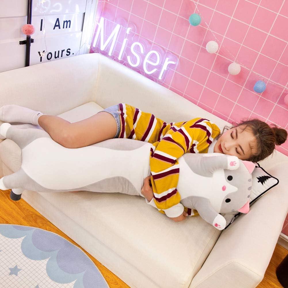 Large Sleeping Pillow Comfort Kitten Stuffed Long Cute Cat Doll Plush Toy Soft