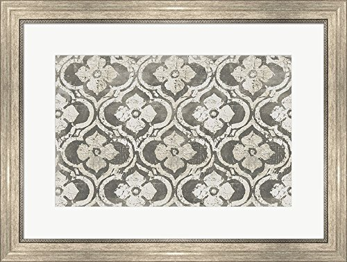 Gilt Complex I Neutral by Avery Tillmon Framed Art Print Wall Picture, Silver Scoop Frame, 26 x 20 inches