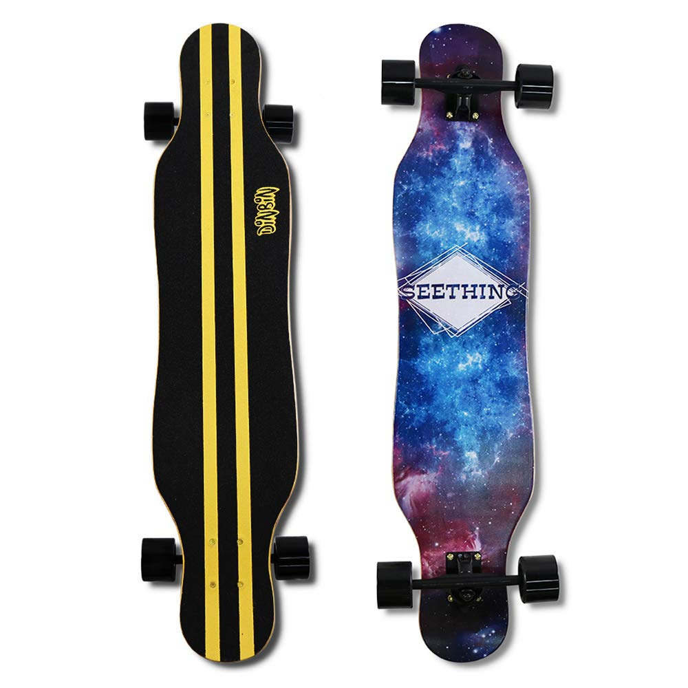DINBIN Longboard Skateboard 41 Inch Drop Through Complete Cruiser for Dancing Cruising Freestyle by DINBIN