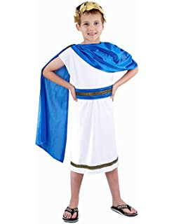 Ancient greek boy kids costume 8 10 years amazon clothing kids boys roman emperor king toga caesar greek childs fancy dress costume outfit world book day solutioingenieria Images