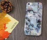 5C Case, Iphone 5C case, IiEXCEL Marble Pattern Gray Soft Flexible TPU Slim Fit Creative Cover Case for Iphone 5c (Color 4A)