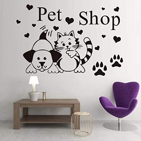 Wall Decals Sticker Wall Stickers Decor Mural Wall Dog Dog Paws