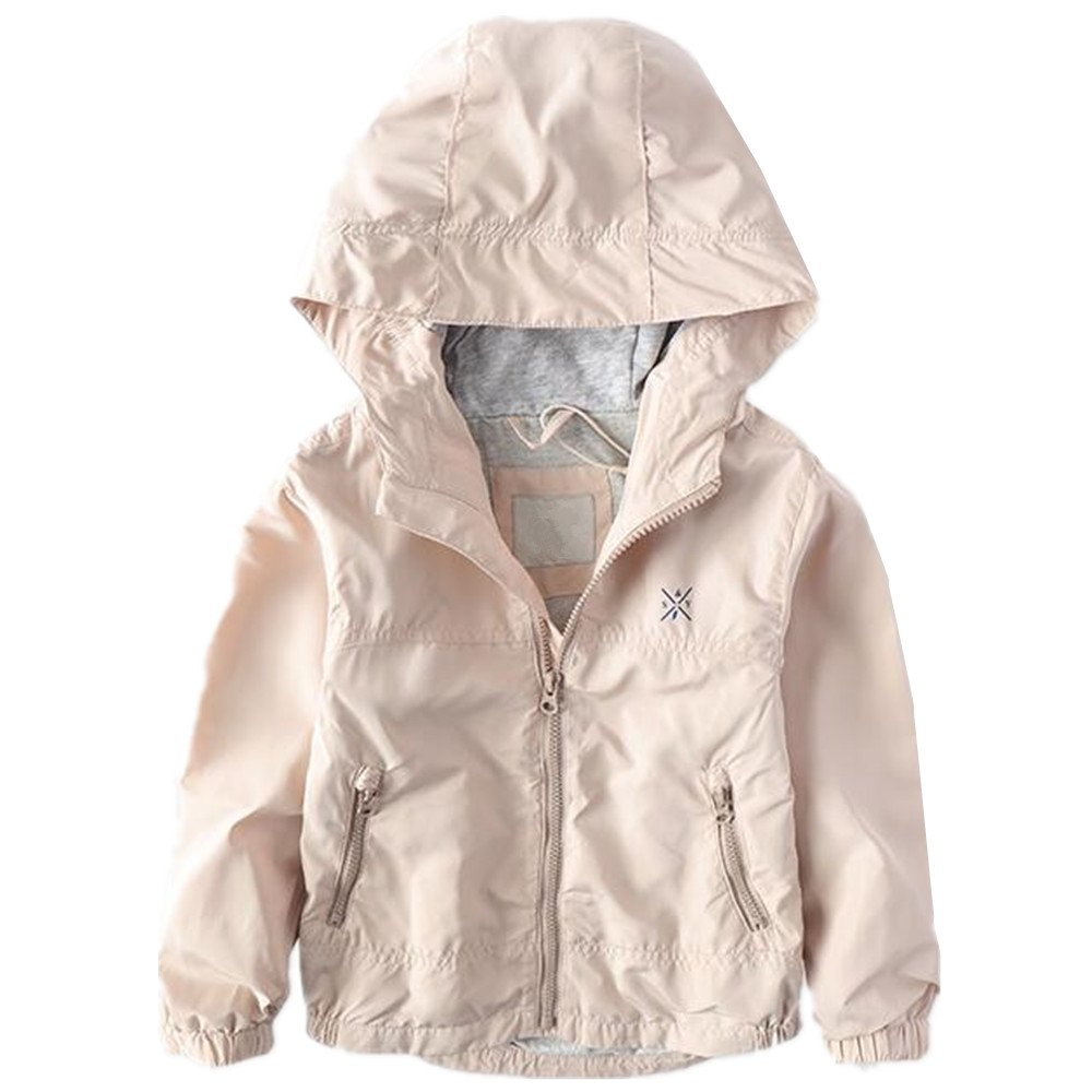 LJYH Boys Waterproof Hooded Jackets Cotton Lined Rain Jackets