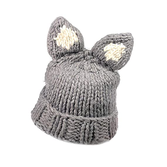 fb3bb44bed67a Clearance Sale 🌲 Women Autumn Winter Cashmere Hat Cute Deer Cat Rabbit Ear  Knitting Wool Warm Hat at Amazon Women s Clothing store
