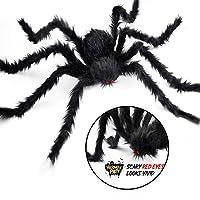 Halloween Big Spider, JuguHoovi con ojos rojos Black