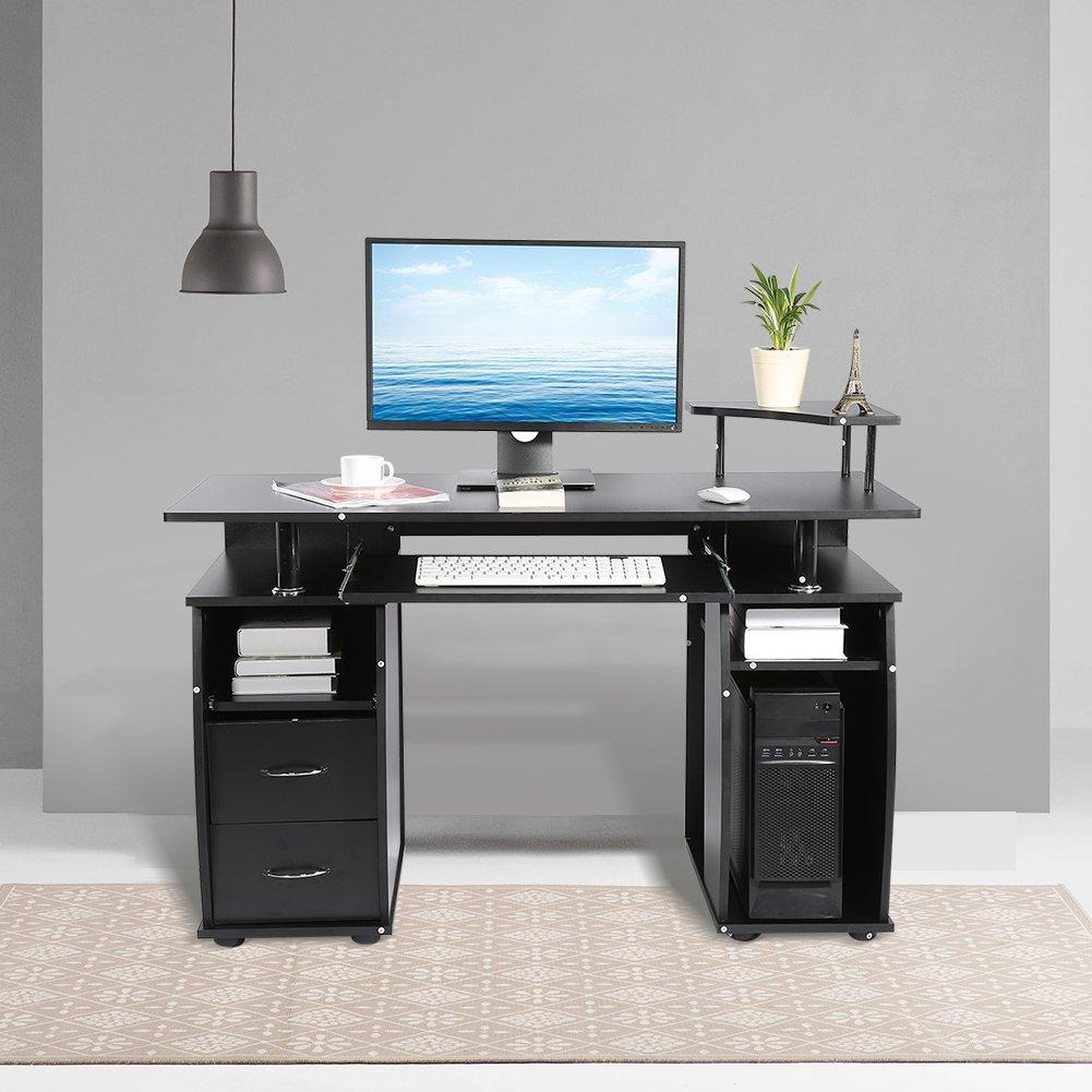 Cocoarm Computertisch Schreibtisch Bürotisch Mit Tastaturauszug