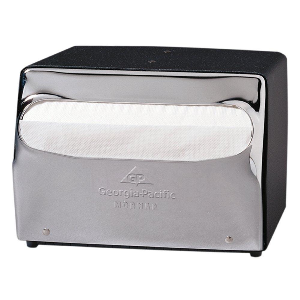 Dixie Countertop Full-Fold Napkin Dispenser by GP PRO (Georgia-Pacific), Chrome, 51602, 7.5