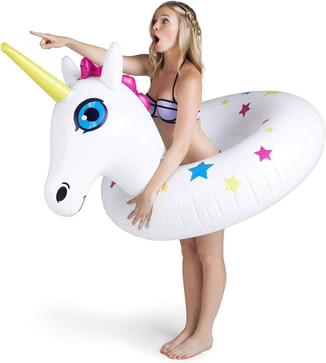 BigMouth Inc. Float Gigante de la Piscina del Unicornio: Amazon.es: Juguetes y juegos