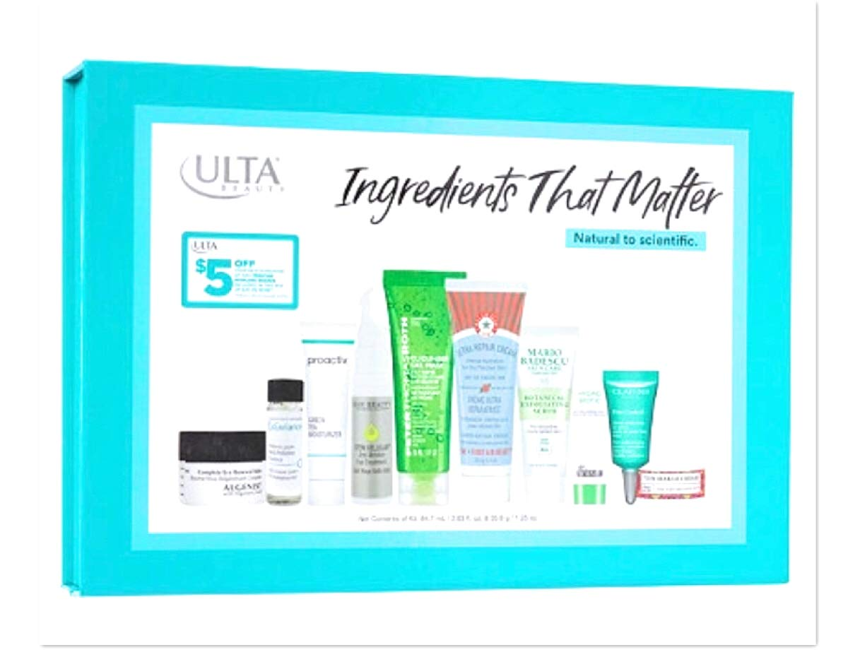 Ulta Beauty Ingredients That Matter 10 Piece Skin Care Favorites Set $98 Value Travel Size by Ulta