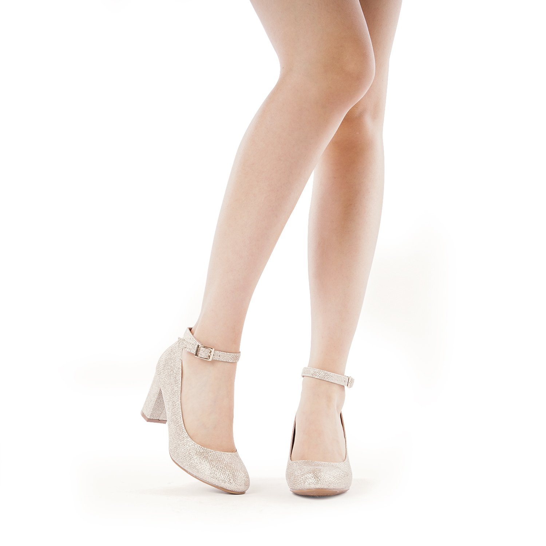 DREAM PAIRS Women's Demilee High Chunky Heel Pump Shoes