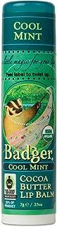 product image for Badger - Cocoa Butter Lip Balm, Cool Mint, Certified Organic Lip Balm, Fair Trade, Natural Lip Balm, Lip Butter, Lip Balm Cocoa Butter, Cocoa Care Lip Balm, 0.25 oz