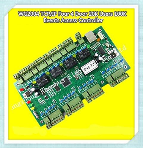 Wg2004.net TCP Ip Four 4 Door Access Controller 20k Users 100k Events MEM Fire Protection &Alarm Trigger Programmable Logic