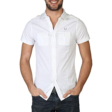 Fred Perry Fred Perry Mens Shirt 30062007 9100 BIANCO: Amazon.es ...