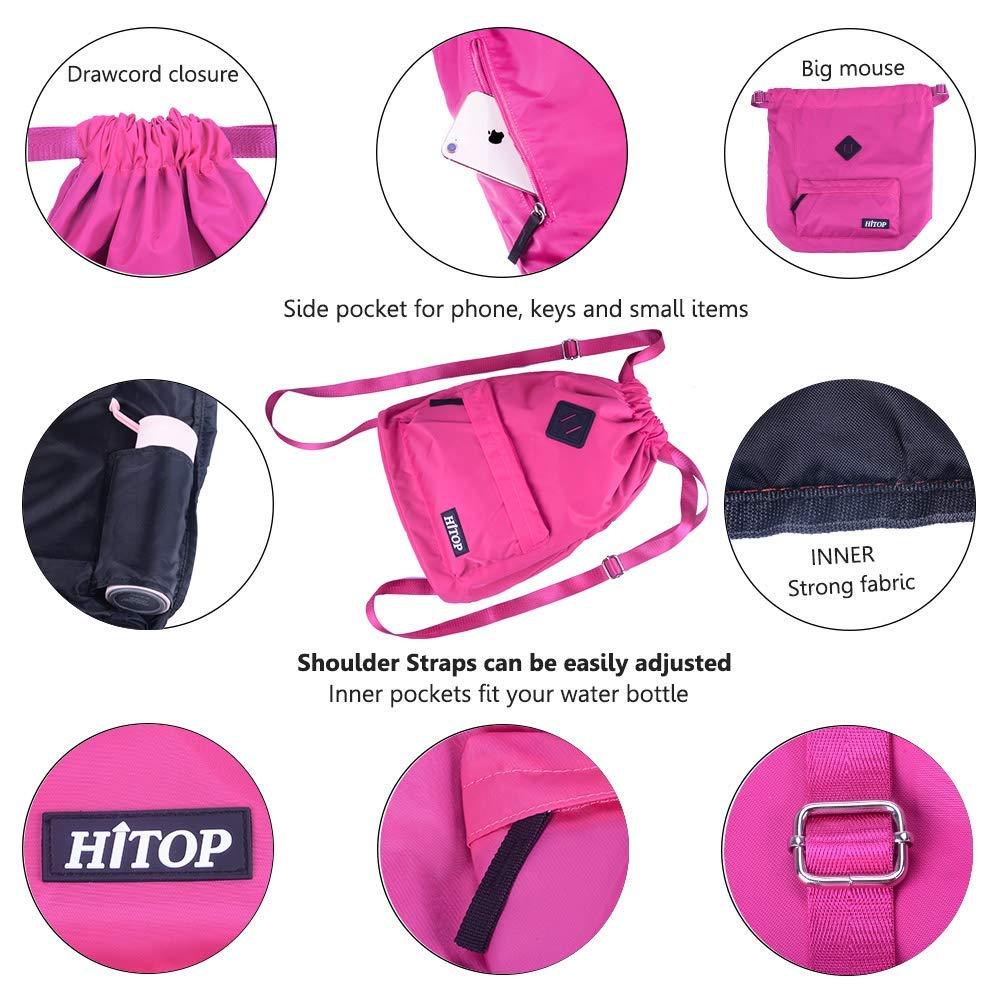 mochila para hombre y mujer. unisex; mochila saco Bolsa deportiva de cord/ón ligera HITOP