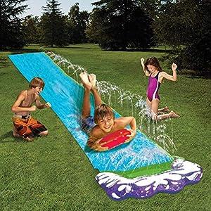 Junean Tobogán acuático a Prueba de Agua, Juegos de Agua con tobogán acuático con tobogán Deslizante 188inn, Suministros Largos de Juego de césped con tobogán acuático para Que los niños se diviertan
