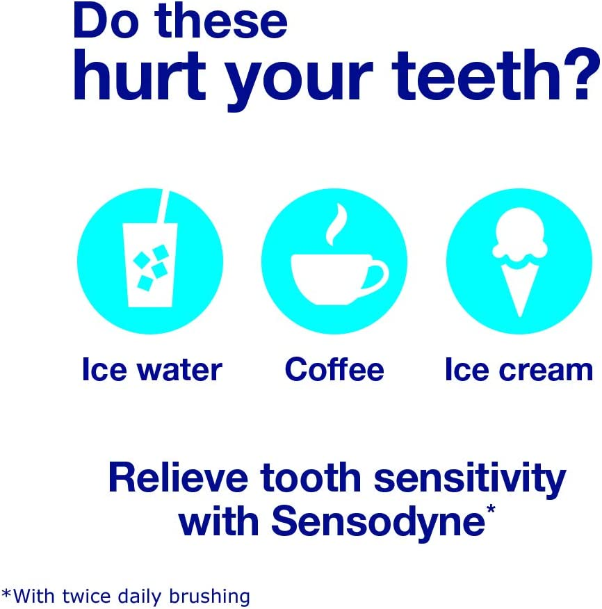 Sensodyne Rapid Relief Sensitive Fluoride Toothpaste, Extra Fresh - 3.4 Ounces -Pack of 3 tubes : Beauty