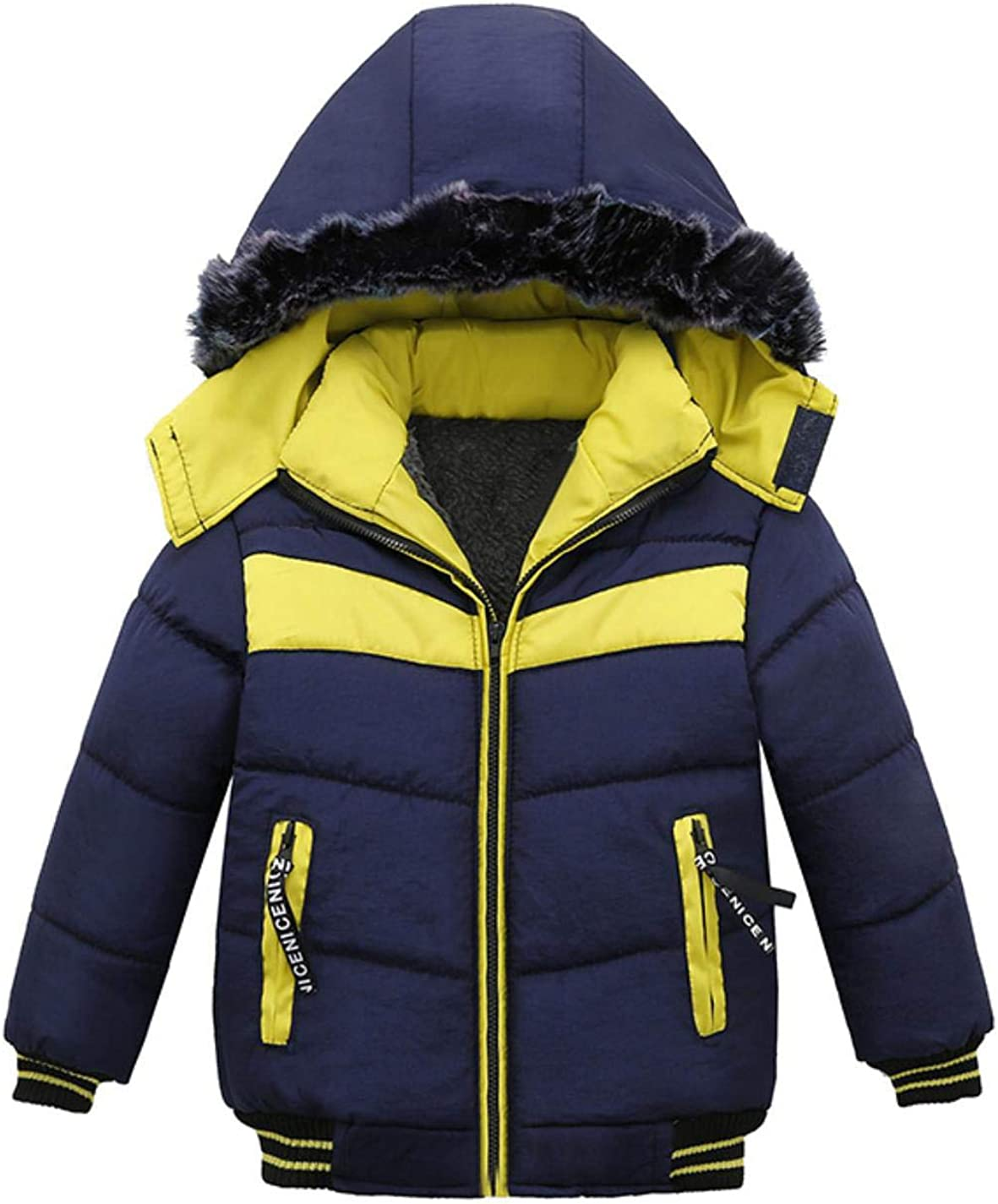 LzCxZDKN Baby Boys Fashion Jacket Kids Hooded Warm Outerwear Children Clothes