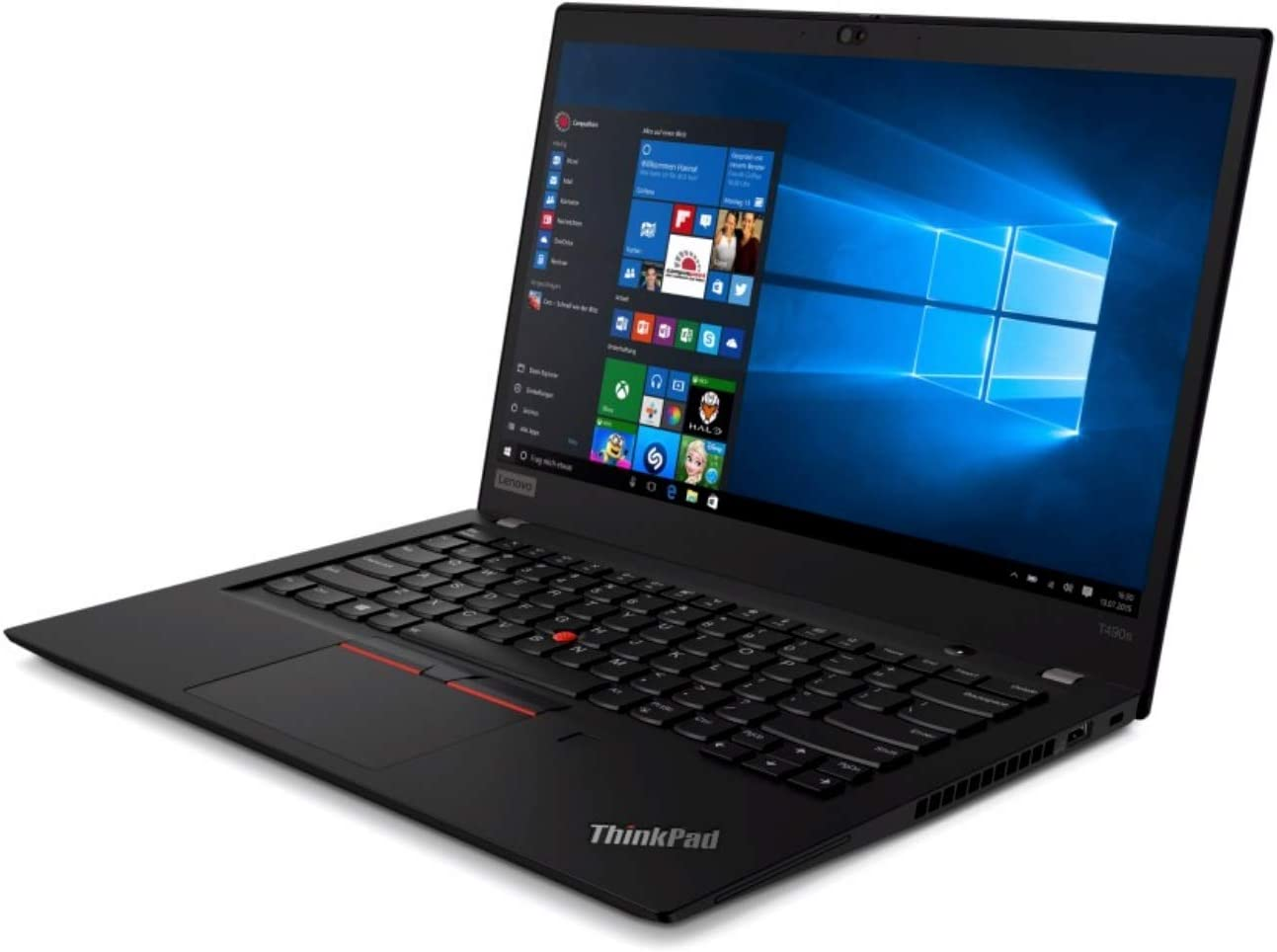 "OEM Lenovo ThinkPad T490s Laptop 14"" FHD IPS Display 1920x1080, Intel Quad Core i5-8265U, 8GB RAM, 256GB NVMe, Fingerprint, W10P"