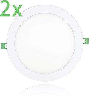 Pack x 2 Downlight led Placa LED Panel LED Redondo,4W Color neutro Chip 2835 [Clase de eficiencia energética A+] (4000K, 4W) [Clase de eficiencia energética A+] (3000K, 24W): Amazon.es: Iluminación